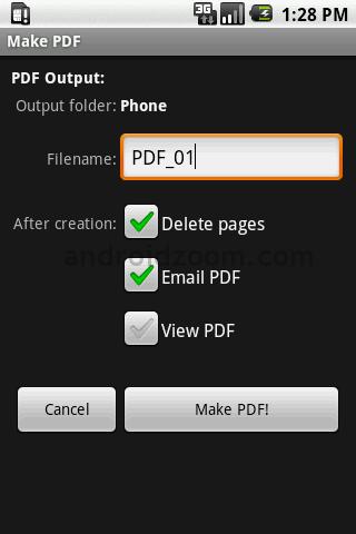Android安卓移动办公应用、商务app推荐-手机Scan2PDF Mobile文件保存发送